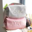 Lisa Angel Ladies' Personalised Embroidered Constellation Velvet Box Make Up Bag