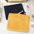 Lisa Angel Personalised Embroidered Constellation Velvet Make Up Bags