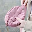 Back of Pink Velvet Bumbag