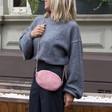 Lisa Angel Ladies' Pink Velvet Crossbody Bag