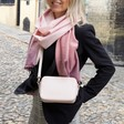 Lisa Angel Ladies' Rectangular Crossbody Bag in Pink on Model