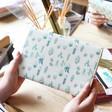 Lisa Angel Ladies' Adorable Watercolour Cactus Print Travel Wallet