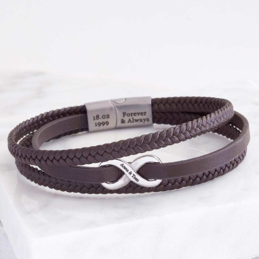 Custom Infinity Bracelet Men/'s Custom Bracelet Personalized Infinity Bracelet Men/'s Engraved Bracelet Men/'s Personalized Bracelet