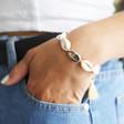 Natural Shell Tassel Bracelet on Model