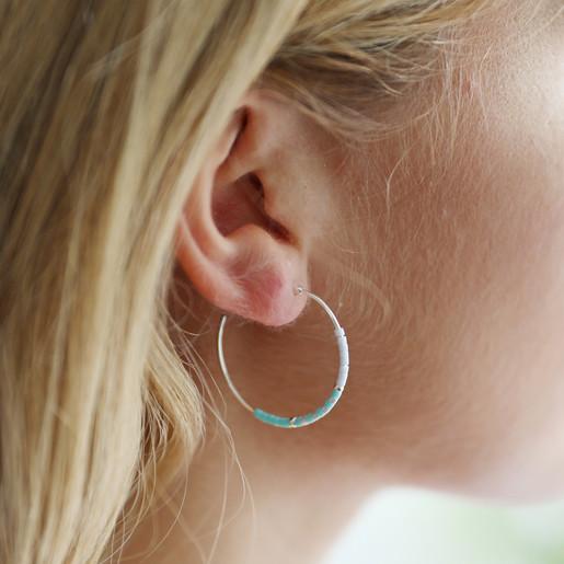 Seed Bead Hoop Earring