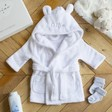 Lisa Angel Personalised 'My First Bathrobe' Baby's White Gown 3-6 Months
