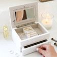 Lisa Angel Ladies' Personalised White Photo Frame Jewellery Box