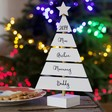Lisa Angel Festive Wooden Personalised Family Christmas Tree Standing Decoration