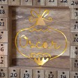 Lisa Angel Personalised Fill Your Own Wooden Bauble Advent Calendar Light Box