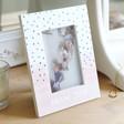 Lisa Angel Ladies' Personalised Pink Polka Dot Photo Frame