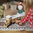 Lisa Angel Kids Personalised Wooden Train Fill Your Own Advent Calendar in White