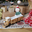 Children's Personalised Wooden Train Fill Your Own Advent Calendar in White