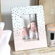 Lisa Angel Ladies' Pink Polka Dot Photo Frame