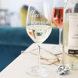 Ladies' Personalised 'Cheers!' Wine Glass