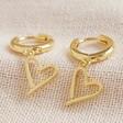 Lisa Angel Ladies' Signature Heart Huggie Earrings in Gold