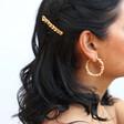 Ladies' Gold Chain Hairslide on Model