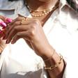 Infinity Chain Bracelet in Gold on Model