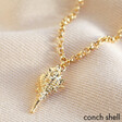 Lisa Angel Gold Conch Seashell Charm Necklace