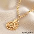 Lisa Angel Gold Nautilus Seashell Charm Necklace