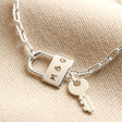 Lisa Angel Ladies' Delicate Padlock and Key Necklace In Silver