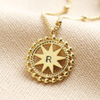 Lisa Angel Gold Personalised Dotted Star Pendant Necklace