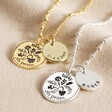 Lisa Angel Ladies' Personalised Lucky Sixpence Pendant Necklaces