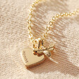 Lisa Angel Gold Personalised Tiny Bee Charm Choker Necklace