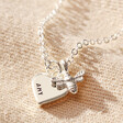 Lisa Angel Silver Personalised Tiny Bee Charm Choker Necklace