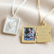 Lisa Angel Personalised Your Photo Vintage Style Book Locket Necklace