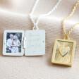 Lisa Angel Delicate Personalised Vintage Style Book Locket Necklace