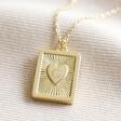 Lisa Angel Gold Personalised Vintage Style Book Locket Necklace