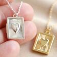 Lisa Angel Engraved Personalised Vintage Style Book Locket Necklace