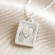 Lisa Angel Silver Personalised Vintage Style Book Locket Necklace