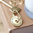 Personalised Engraved Message of Affirmation Keyring in Gold