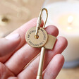 Ladies' Personalised Message of Affirmation Keyring in Gold