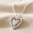 Ladies' Personalised Spinning Heart Pendant Necklace in Silver