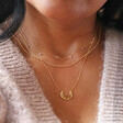 Starry Moon Necklace in Gold on Model