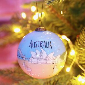 Hand-Painted Australia Bauble