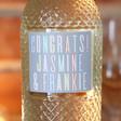 Bottle of Personalised 'Congratulations' Freixenet Wine