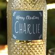 Bottle of Personalised Festive 'Merry Christmas' Freixinet Wine