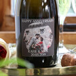 Lisa Angel Special Personalised Photo 'Happy Anniversary' Prosecco