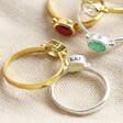Lisa Angel Ladies Personalised Sterling Silver Gemstone Ring