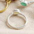 Lisa Angel Personalised Sterling Silver Gemstone Ring