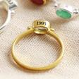 Lisa Angel Gold Personalised Sterling Silver Gemstone Ring