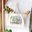 Lisa Angel Owen Mathers Illustrated Norwich Market Tote Bag