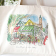 Lisa Angel Colourful Owen Mathers Illustrated Norwich Market Tote Bag