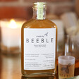 Back of Personalised 20cl Bottle of Beeble Honey Whisky
