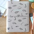 Lisa Angel Personalised Eyes & Lips Faux Leather Refillable Notebook