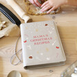 Lisa Angel Personalised Faux Leather Refillable Christmas Recipes Book