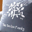 Personalised Dark Grey 'Family Tree' Cushion Cover